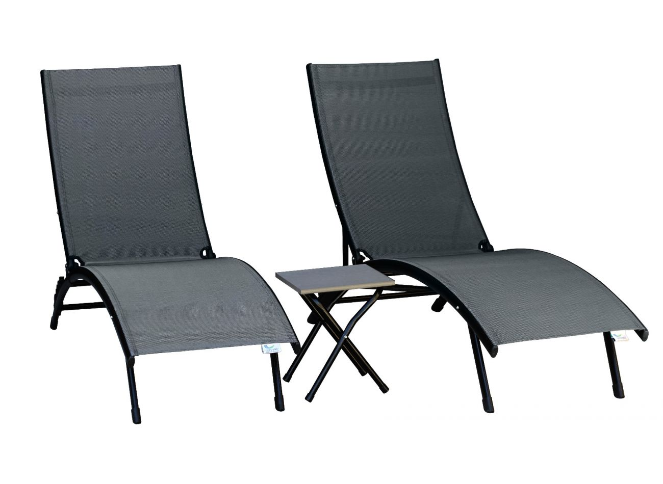 Lounge Chaise Combi Midtown Sun Aluminium Grey
