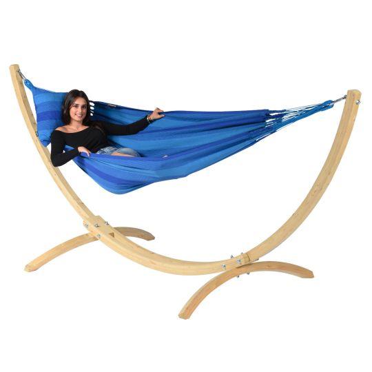 Hamac Sur Pied 1 Personne Wood & Dream Blue