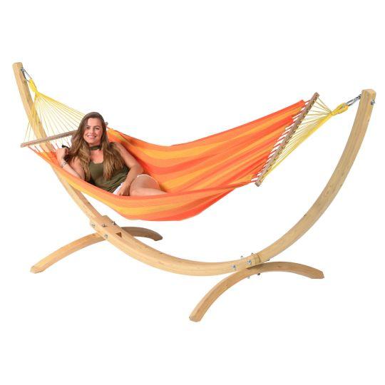 Hamac Sur Pied 1 Personne Wood & Relax Orange