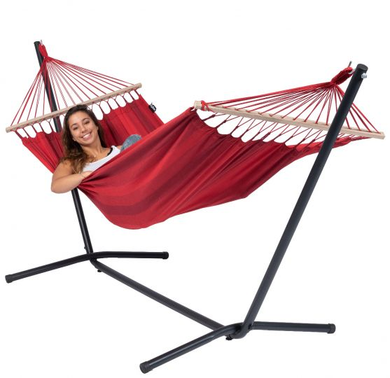Hamac Sur Pied 1 Personne Easy & Relax Red