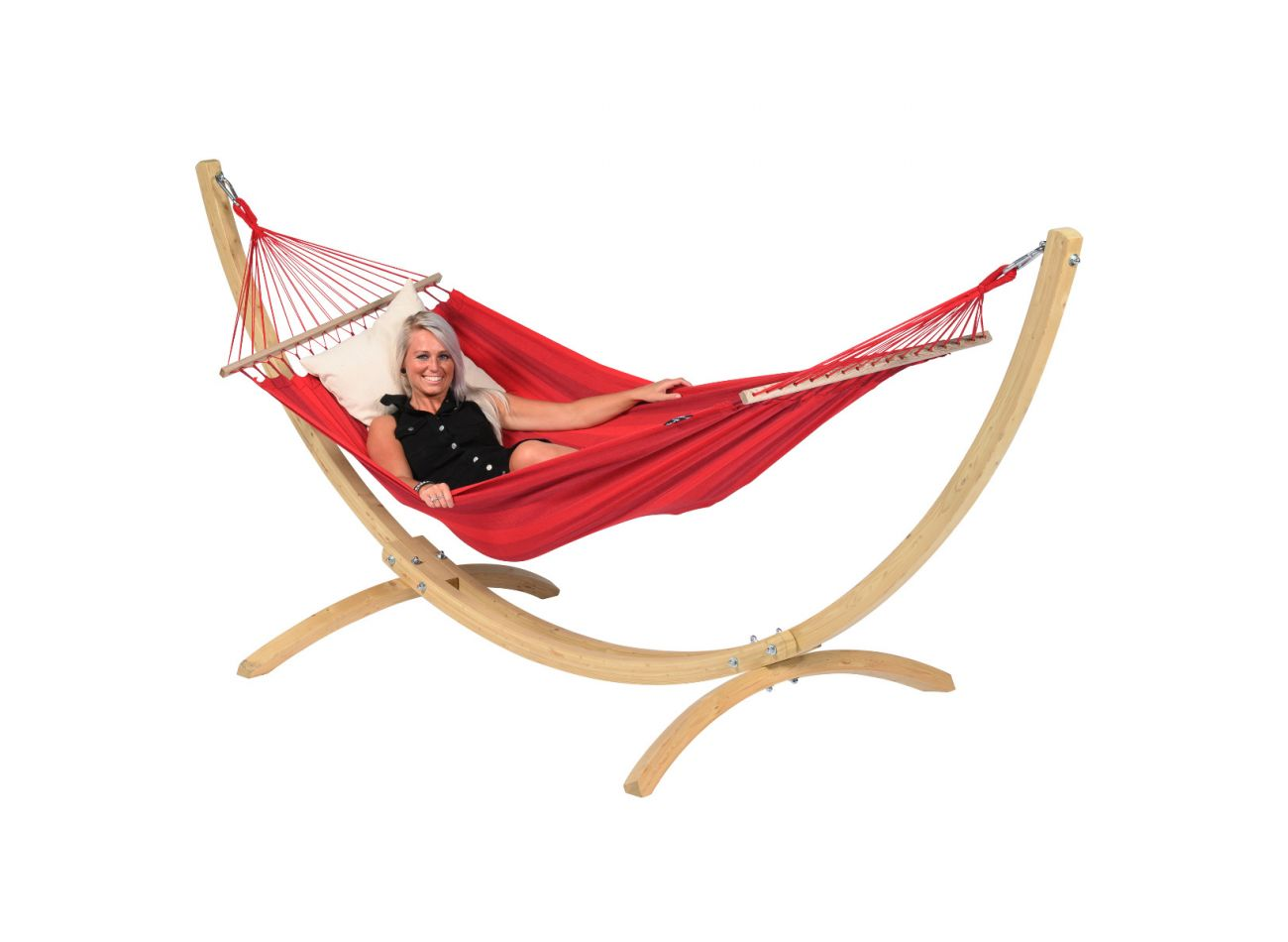 Hamac Sur Pied 1 Personne Wood & Relax Red